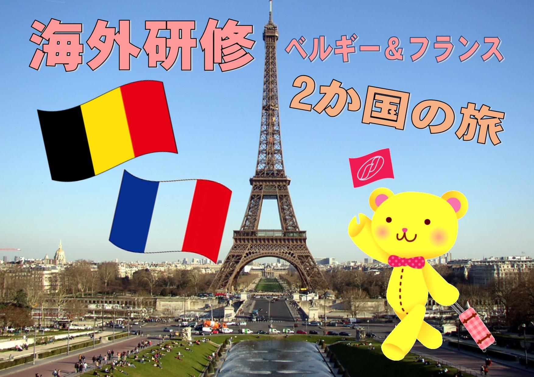 海外研修★ベルギー&フランスへ!