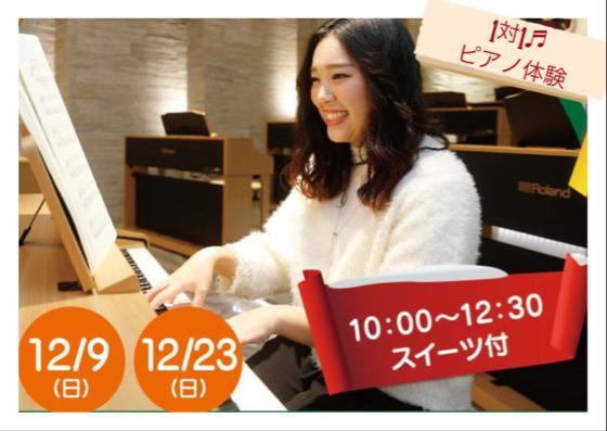 【12月限定】初心者でもマスターできるピアノ体験
